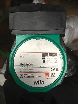 Brand New Wilo Top Z25/10 Bronze Pump