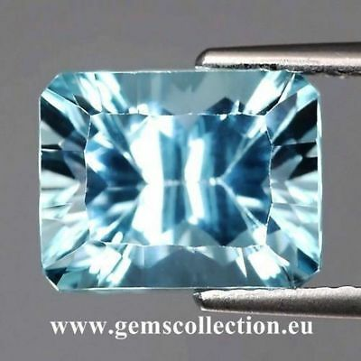 Aaa Natural Topaz - Topazio Naturale Ct 4.57 Octagon Cut Stunning Origin Brazil