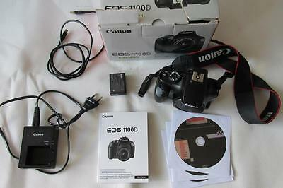 Canon EOS 1100D 12.2MP Digital-SLR DSLR Camera (HD Camcorder) Body Only - BOXED