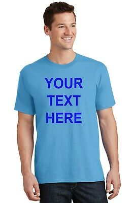 Custom Personalized T-shirt Your Text Printed Front or Back Free Shipping