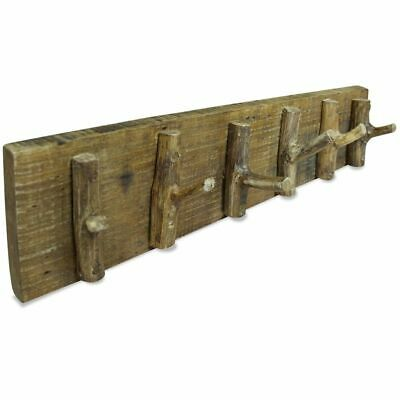 vidaXL Coat Rack Solid Reclaimed Wood Clothes Bag Hat Wall Door Hanger Hook