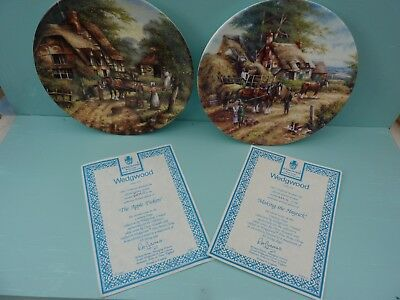 2 x Wedgwood Collectors Plates in the Country Days series