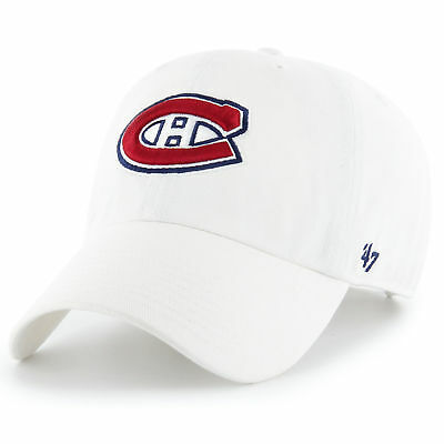 47 BRAND NEW NHL Montreal Canadians Clean Up Cap White BNWT