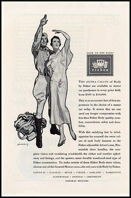 1920s vintage automobile ad for Fisher Bodies -1096