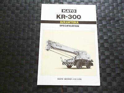 Kato Kr 300 Rough Terrain Crane Specification Leaflet/Brochure *As Pictures*