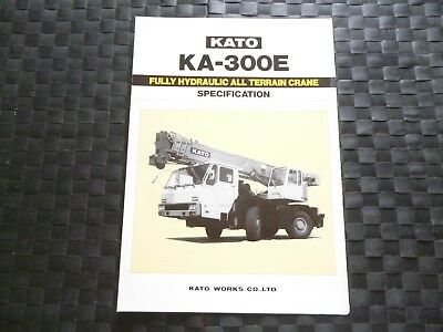 Kato Ka 300E Fully Hydraulic All Terrain Crane Spec Leaflet/brochure *as Picture