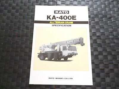 Kato Ka 400E All Terrain Crane Specification Leaflet/Brochure *As Picture*