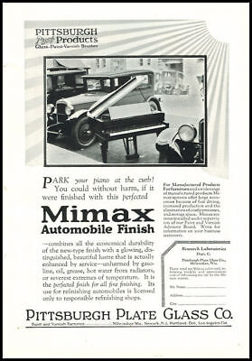 1920s vintage ad for Mimax Automobile Finish