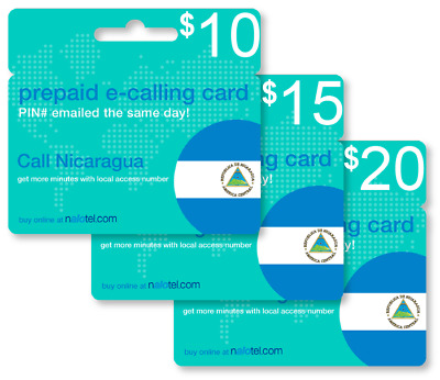 cheap international calling card for nicaragua with emailed pin - International Calling Cards Online