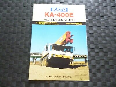 Kato Ka 400E All Terrain Crane Lifting Cap 40 Ton Leaflet/Brochure *As Picture*