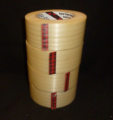 """1 Roll 3M 2"""" x 60 yds strapping tape by Scotch Free Shipping"""