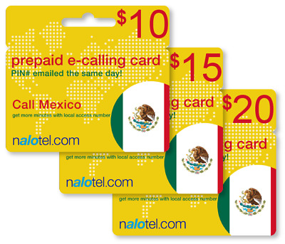 cheap international calling card for mexico with emailed pin - Mexico Calling Card