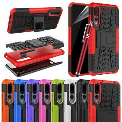 Hybrid Armor Shockproof Rugged Bumper stand Case Cover For Huawei Mobile Phones