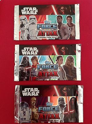 3 Packs Of Star Wars Force Attax Cards