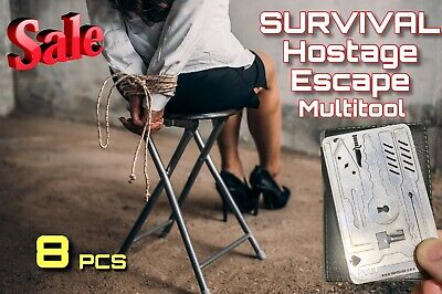 8 Pcs EDC Escape Hostage Survival Card MultiTool Credit Card Size FREE DELIVERY