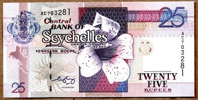 Seychelles UNC Note 25 Rupees ND 2005 P-37b