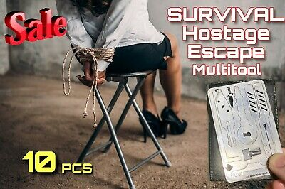 x10 EDC Escape Hostage Survival Card Multi Tool Credit Card Size FREE DELIVERY