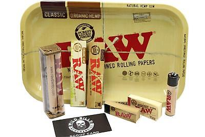 Bundle 8 Items Authentic Raw Paper King Size Combo Tray+Papers+Tips+Rolling
