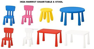 IKEA MAMMUT SERIES Kids Chairs, Stools, Tables, Indoor/Outdoor Colours Choice