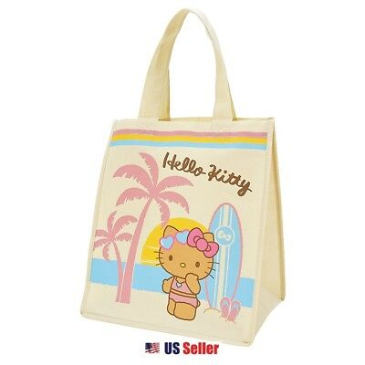 Sanrio Hello Kitty Reusable Eco-Friendly Shopping Grocery Tote Bag : Beach Kitty