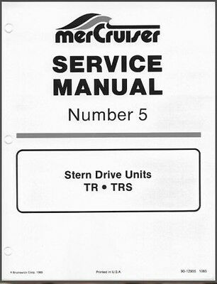 78-93 Mercury MerCruiser #5 TR TRS Stern Drive Units Service Repair Manual CD