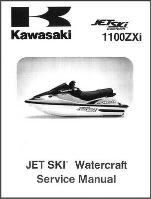 1996-2002 Kawasaki 1100ZXi Jet Ski Service Repair Manual CD - JetSki 1100 ZXi