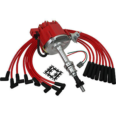 New Premium HEI Distributor and Plug Wire Set For Ford For 351C 351M 400 429 460