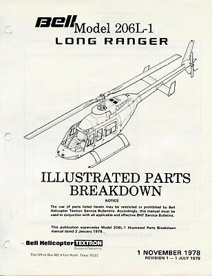 Bell Helicopter Model 206L-1 Long Ranger Illustrated Parts Breakdown