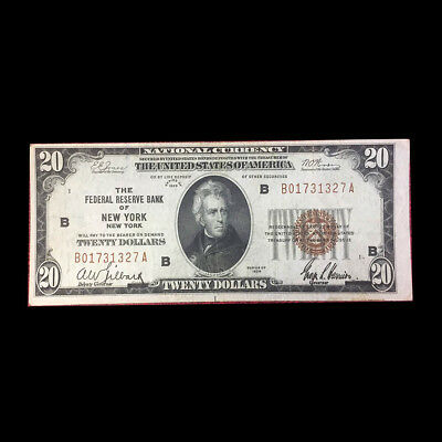Series 1929 $20 FRBN (National Currency) – New York New York -VF- FR# 1870-D