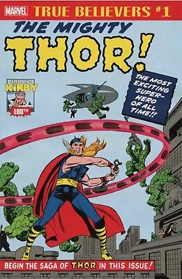 True Believers Kirby 100th Introducing The Mighty Thor #1 NM (Bx 540 117)