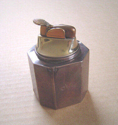 Vintage Evans Tiffany & Company Sterling Table Top Lighter Engraved CVW THER