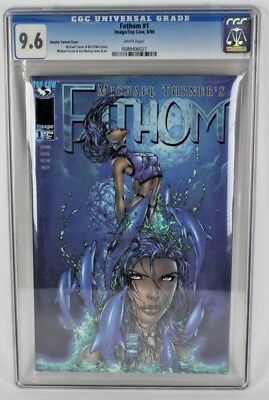 Fathom Comic Book #1 Cgc Graded 9.6 White Pages