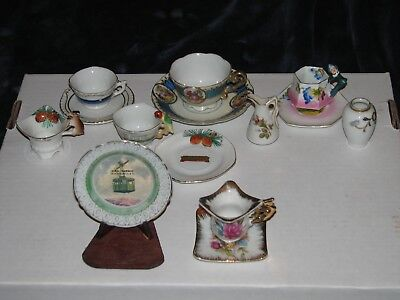 Lot of antique Japan, made in Japan porcelain cups & saucers +