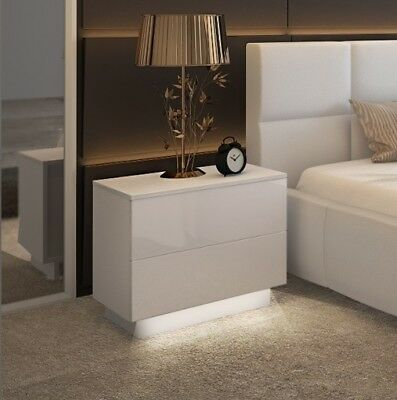 led nachtschrank nachtkonsole nachtkommode nachttisch. Black Bedroom Furniture Sets. Home Design Ideas