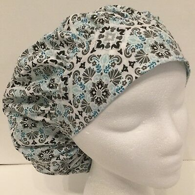 New Spring Print Large Medical Bouffant OR Scrub Cap Surgery Hat