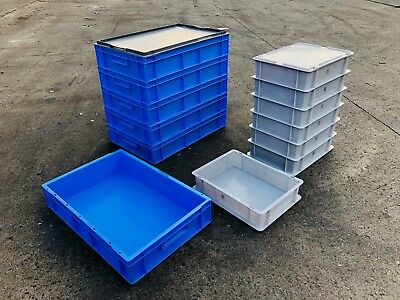 Heavy Duty Stackable Plastic Storage Container Tubs