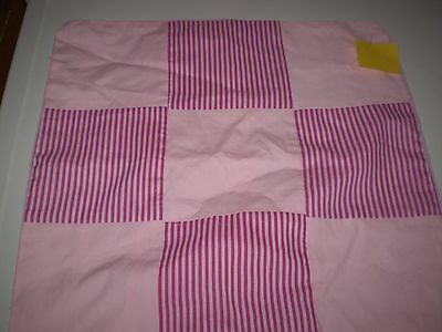 Pink Patchwork Cushion Cover
