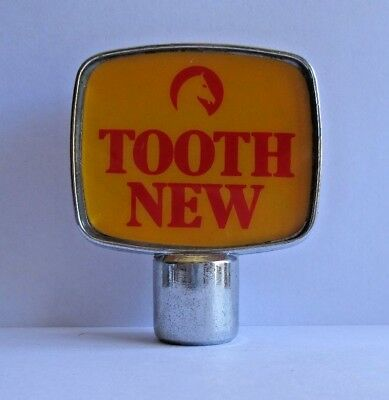Tooth New Beer font tap top plastic design handle knob badge for home bar