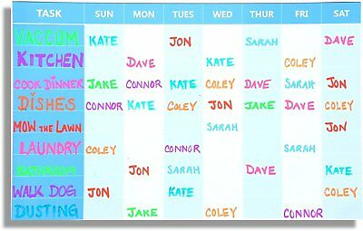 Weekly Chore Chart Magnetic Planner