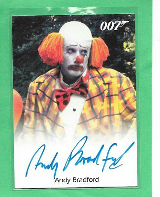 2016 OO7 James Bond Archives Spectre Edition Andy Bradford Full Bleed Autograph