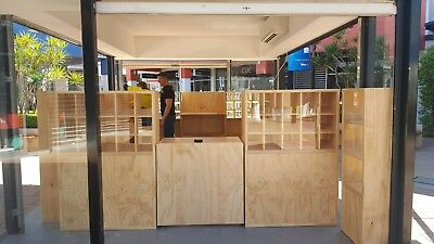 Retail shop fittings timber