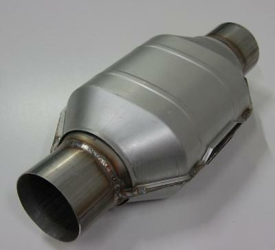 "2.5"" 200 Cpi Metal Core Stainlesss Steel High Flow Cat Catalytic Converter Oval"