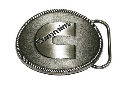Cummins Antique Silver color Logo Diesel Truck Belt Buckle Dodge Ram NEW USA