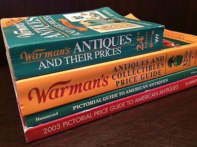 Antique Price Guide Lot Warman's Books Dorothy Hammond