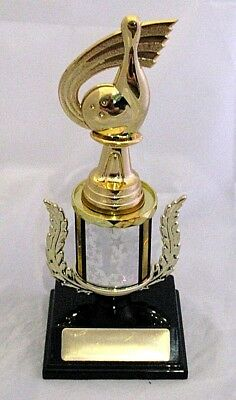 Tenpin Pin and Bowl 190mm Trophy Engraved FREE