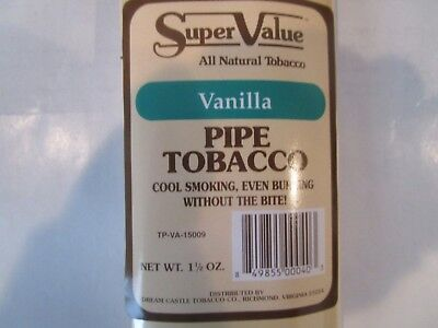 Plastic Pipe Tobacco Pouch  by Super Value Vanilla FREE SHIPPING WORLDWIDE