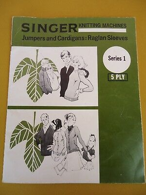 Singer Knitting Machine Pattern Book Series 1 VINTAGE JUMPERS Cardys 5 Ply #5935