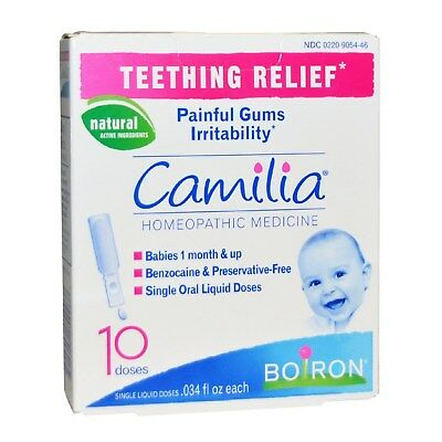 Camilia 10 Dose Painful Gums Teething Relief Boiron Zabkowanie SAME DAY DISPATCH