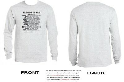 Religions Of The World Long Sleeve - Funny - all religeous sects - 3554