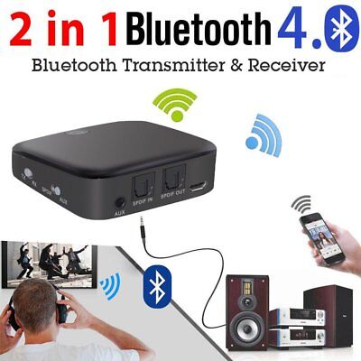 HIFI Wireless Bluetooth 2 in1 Audio Transmitter /Receiver 3.5MM RCA Adapter Lot#